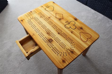 Outdoor Cedar Cribbage Tables ? Old Wolf's Wood Shop