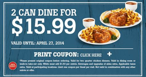 free printable grocery coupons canada only swiss chalet canada printable coupons 2 can dine for just