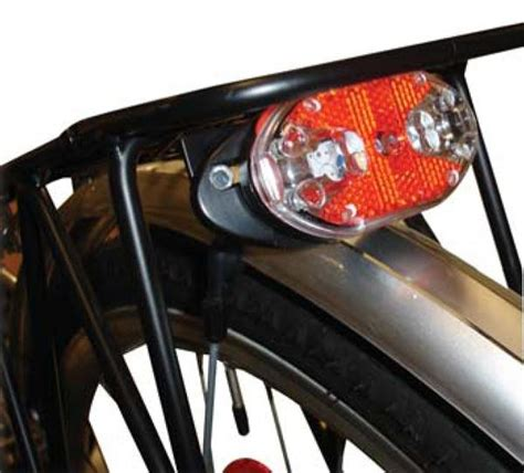 cycle lights cycle bike light rear carrier led with reflector of287 ebay