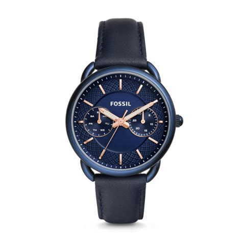 Fossil Kendal Xbody Blue Marine tailor multifunction blue leather fossil
