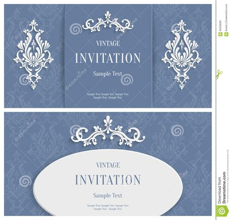 3d invitation card template vector white floral 3d background template for