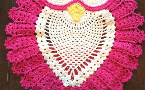 free crochet owl rug pattern beautiful owl rug crochet diagram