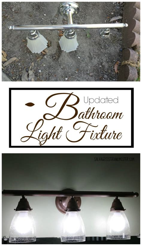 100 room challenge updated bathroom light fixture