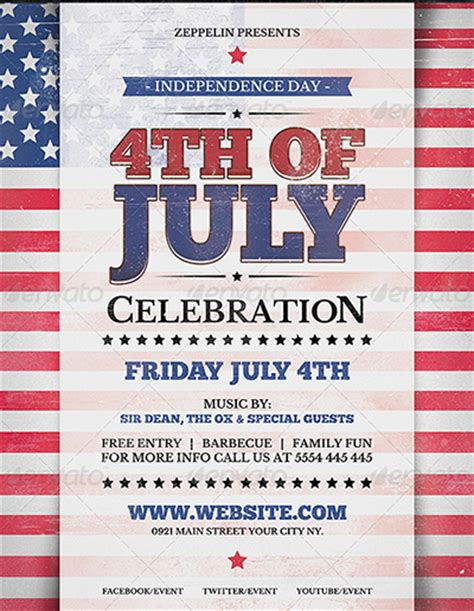 120 Best 4th Of July U S Independence Day Flyers Print Templates 2016 Frip In In July Flyer Template