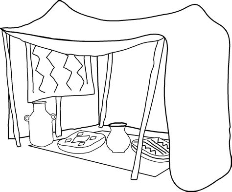 coloring page tent