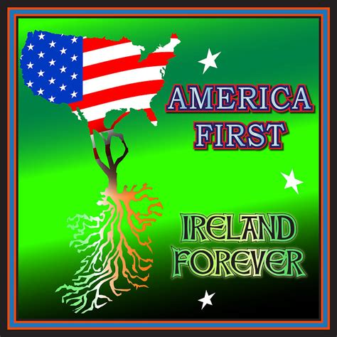 Shower Curtain Map America First Ireland Forever Digital Art By Ireland Calling