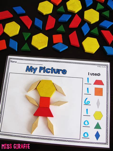 pattern block smartboard activities miss giraffe s class composing shapes in 1st grade