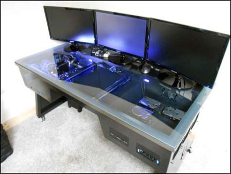 Awesome Gaming Desk Other Desk Builds L3p