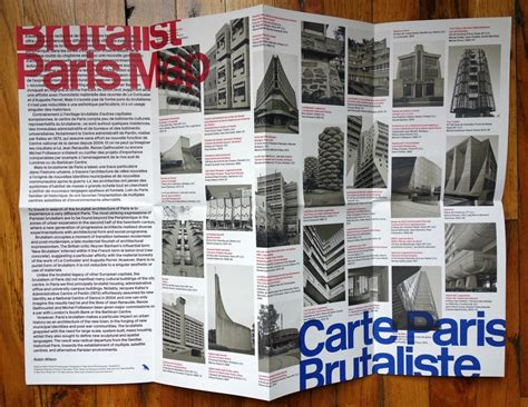 brutalist london map a new guide maps the overlooked brutalism of paris
