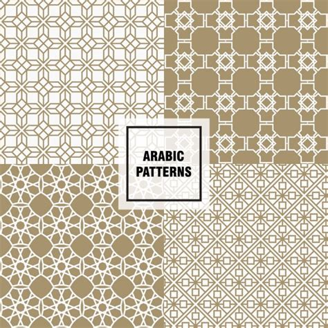 arabic pattern ai brown arabic pattern vector free download