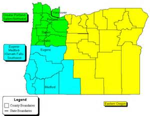 w e r oregon zip code maps