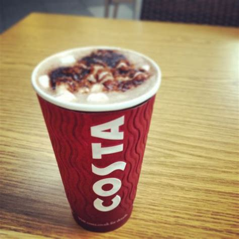 Lindt Choco Flake chocolate costa our menu costa coffee