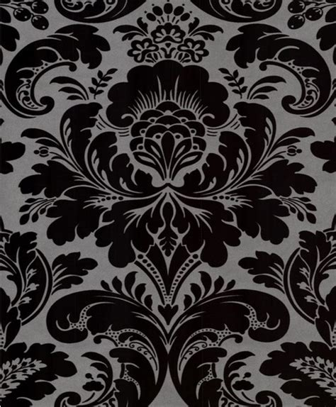 black and silver bathroom wallpaper caesar damask wallpaper wallpaper by wallpaper worldwide