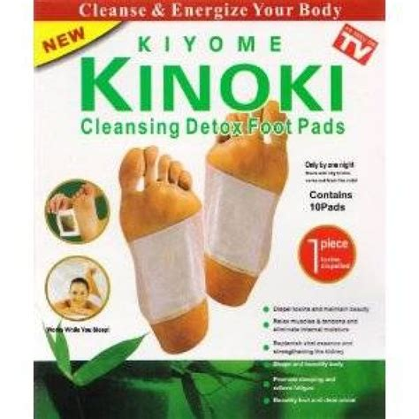 Detox Through Pads by Kinoki Cleansing Detox Foot Pads Cleanse And Energize