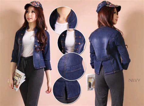 Baju Outer Wanita Adara Jacket Navy Terbaru buy denim outer jaket jaket denim pakaian wanita outerwear quality baju