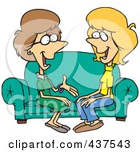 cartoon sitting on couch royalty free stock illustrations of sisters by ron