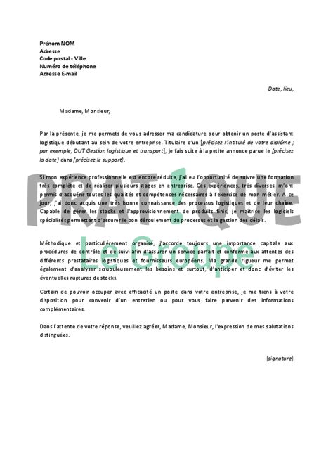 Exemple De Lettre De Motivation Transport Modele Lettre De Motivation Logistique Document