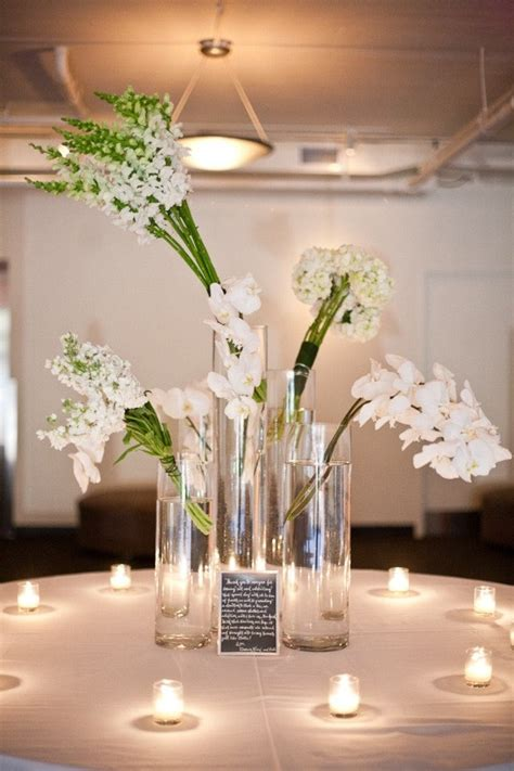 modern centerpieces nyc wedding at tribeca rooftop by entwined studio