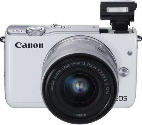 Cashback Canon Eos M10 M 10 15 45 Kit Datascript buy canon eos m10 mirrorless with 15 45 mm f 3 5 6 3 lens white free delivery currys