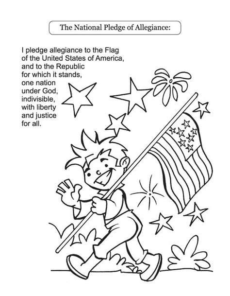 Pledge Of Allegiance Coloring Page pledge of allegiance coloring page coloring home