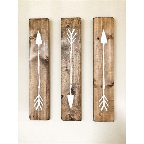 wood decor rustic white wooden arrows 3 piece set rustic decor