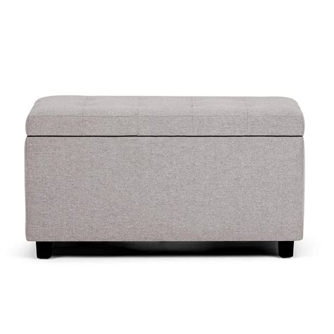simpli home cosmopolitan rectangular tufted faux leather