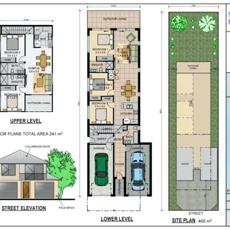 narrow house plans with garage narrow lot house plans with front garage australia escortsea
