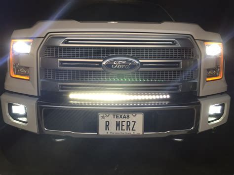 ford truck led lights 30 quot curved led light bar installed ford f150 forum