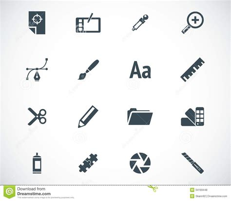 graphic design icons stock vector image of icon design vector black graphic design icons stock illustration