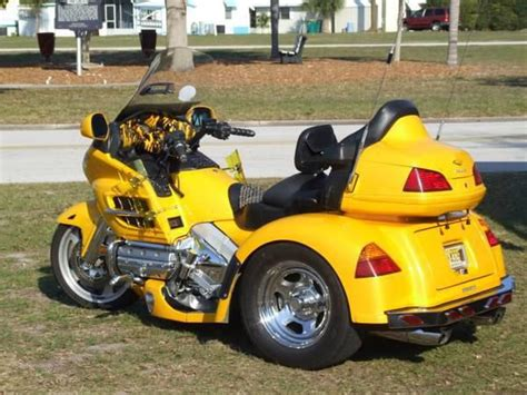 honda goldwing 3 wheel honda goldwing trike yellow motorcycle for sale
