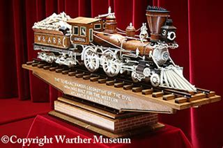 warther museum traces life  master train carver
