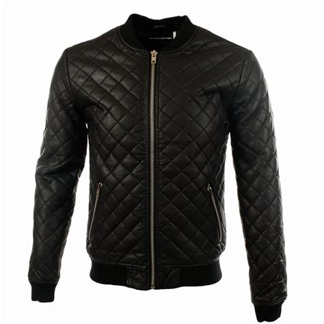 Black Quilted Bomber Jacket by Minimum Minimum Black Boyce Pu Quilted Bomber Jacket