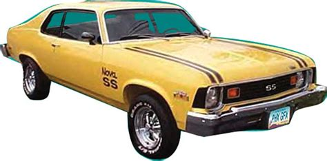 Auto Restoration Decals by 1974 Chevrolet Parts Emblems And Decals