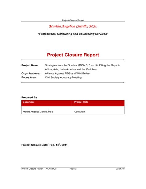 sle project closure report project closure report template 8 28 images project
