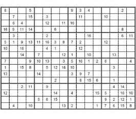 Intermediate sudoku 16 x 16 puzzle 1 intermediate sudoku 16 x 16 to