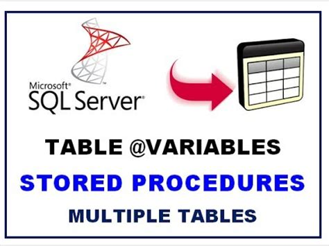 Sql Server Table Variable by Sql Server Table Variables Stored Procedures