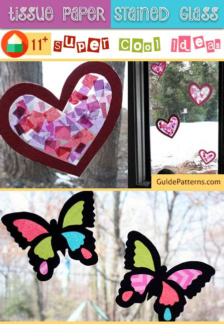 tissue paper stained glass  super cool ideas guide
