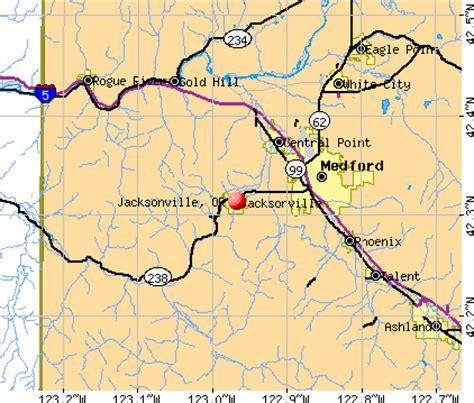 jacksonville oregon map jacksonville oregon or 97501 97530 profile population