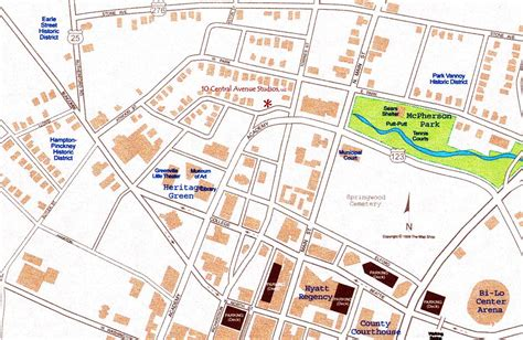 greenville sc map map of downtown greenville sc pictures to pin on pinsdaddy