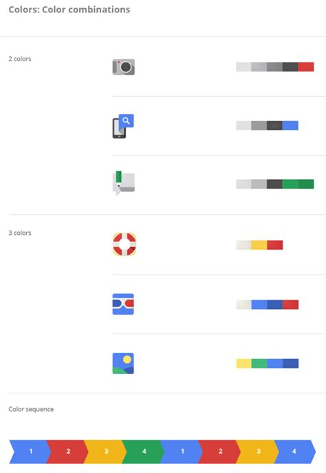 Google Design Principles | reductive geometric front facing a look at google s