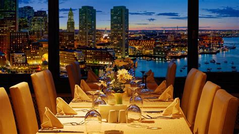 steak house boston 198 boston harbor restaurant night skyline