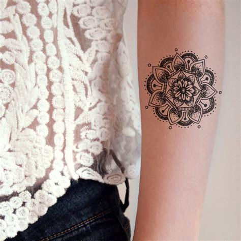 mandala temporary tattoo mandala temporary mandala and tatoo