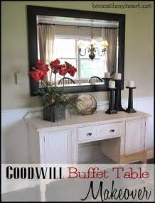 goodwill furniture makeovers buffet table re do beneath my heart