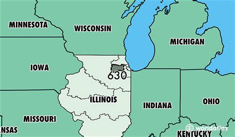 us area code locations where is area code 630 map of area code 630 il