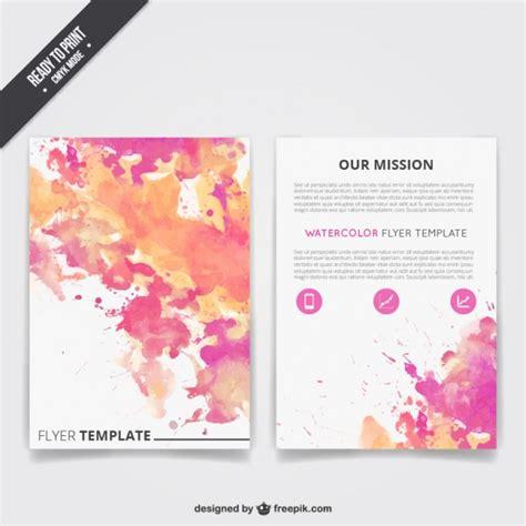 watercolor templates watercolor brochure template free vectors ui