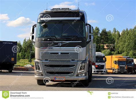 big volvo big volvo fh16 truck up front editorial stock image