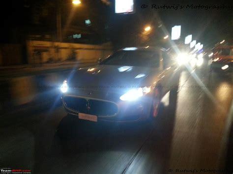 maserati night exclusive pics black maserati granturismo in mumbai