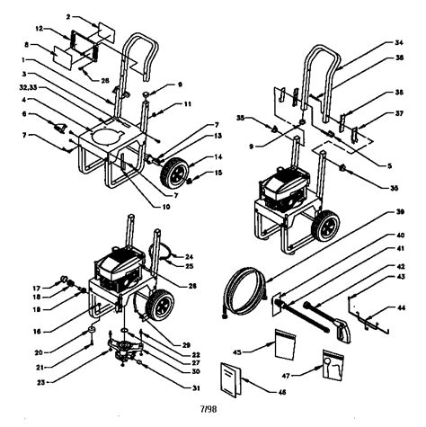craftsman pressure washer parts diagram craftsman 580 761800 parts master tool repair