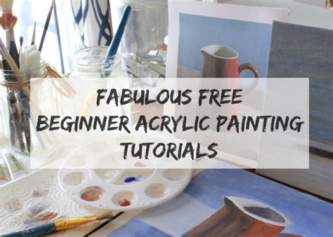 acrylic painting step by step tutorial fabulous free beginner acrylic painting tutorials