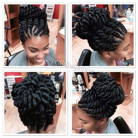 large flat braid updo big braids hair pinterest big braids